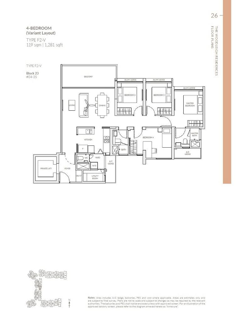 Woodleigh Residences Woodleigh Residences floorplan type F2 V
