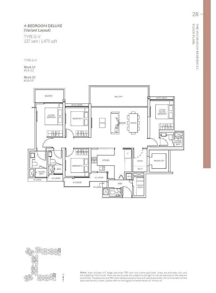 Woodleigh Residences Woodleigh Residences floorplan type G V