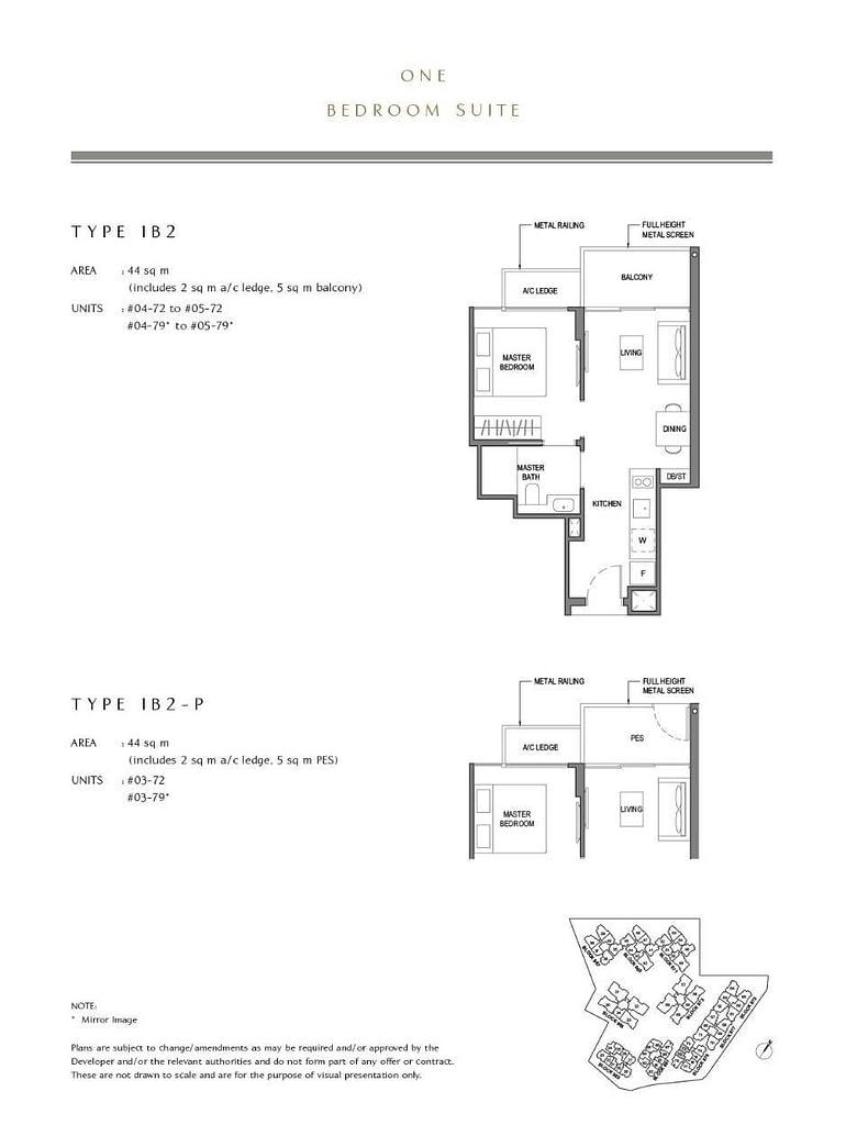 Parc Komo Parc Komo floorplan type 1B2 P