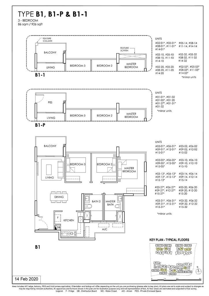 OLÁ OLA floorplan type B1 P