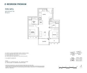 Penrose Penrose floorplan 2Pc