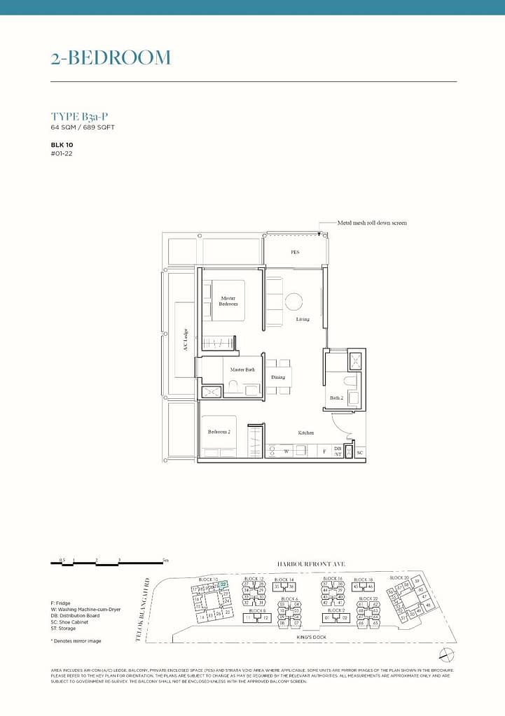 The Reef at King's Dock The Reef floorplan type B3a P