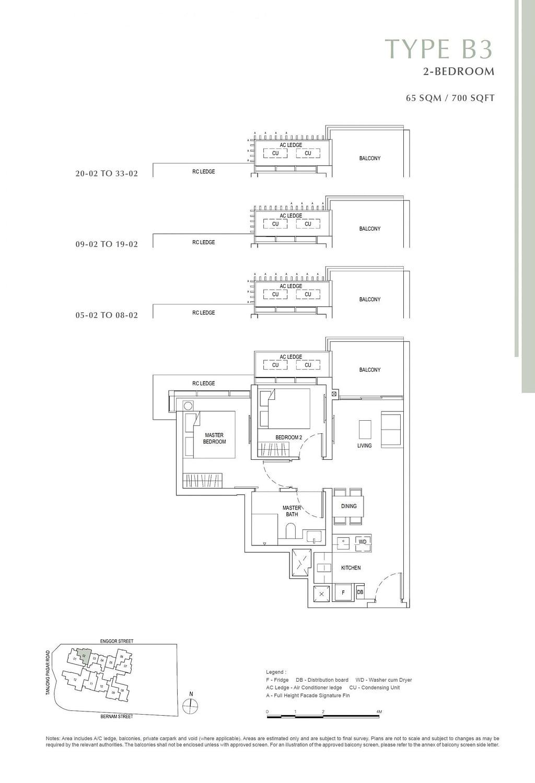 One Bernam One Bernam floorplan B3 scaled