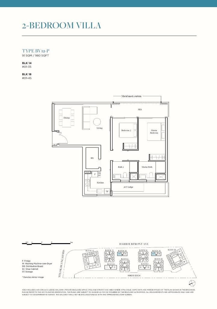 The Reef at King's Dock The Reef floorplan type BV1a P