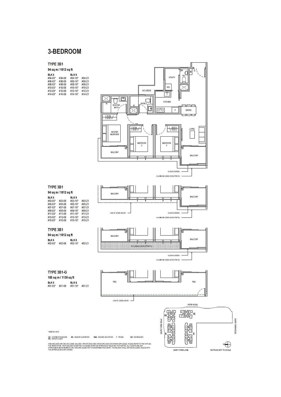 Dairy Farm Residences Dairy Farm Residences floorplan 3B1 G