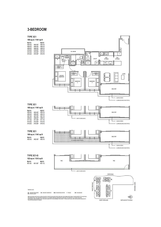 Dairy Farm Residences Dairy Farm Residences floorplan 3C1 G
