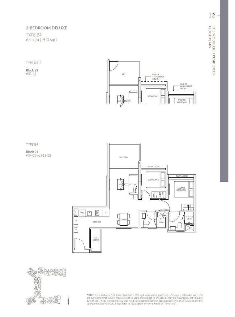 Woodleigh Residences Woodleigh Residences floorplan type B4 P