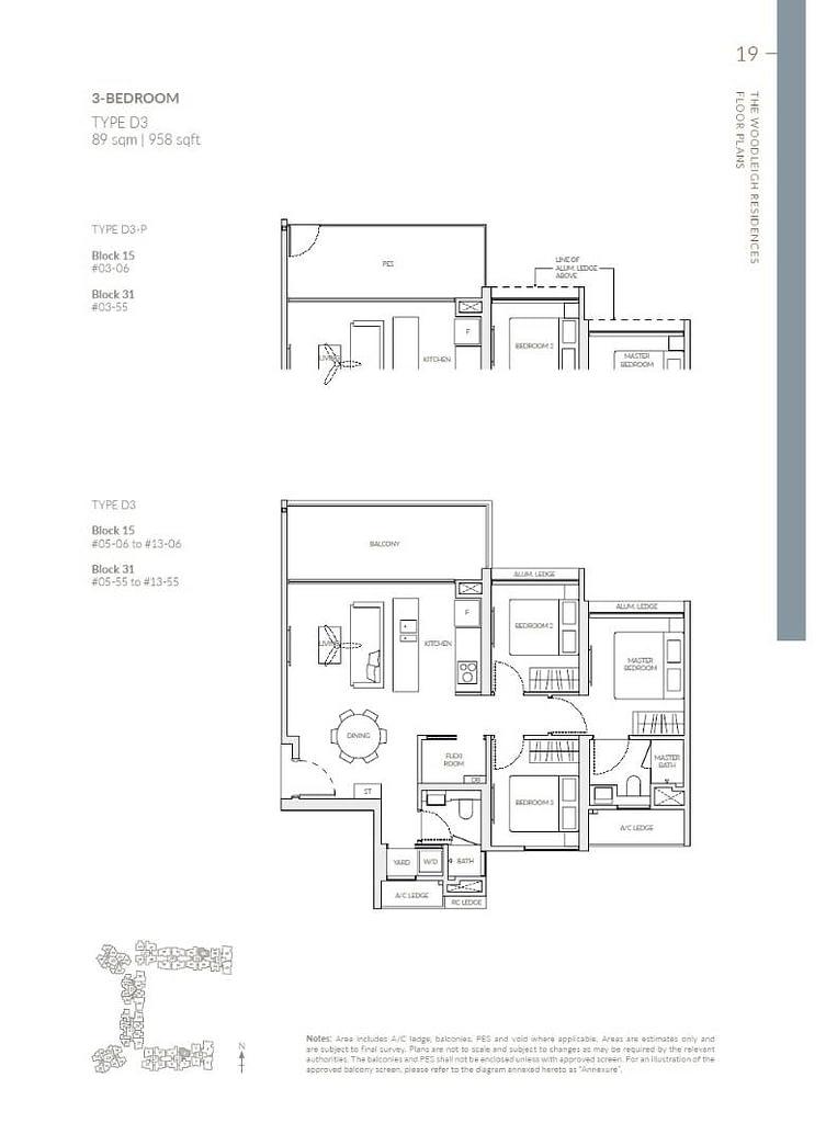 Woodleigh Residences Woodleigh Residences floorplan type D3 P