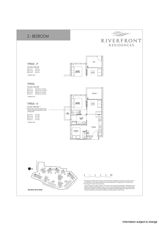 Riverfront Residences Riverfront Residences Floorplan B1 H scaled