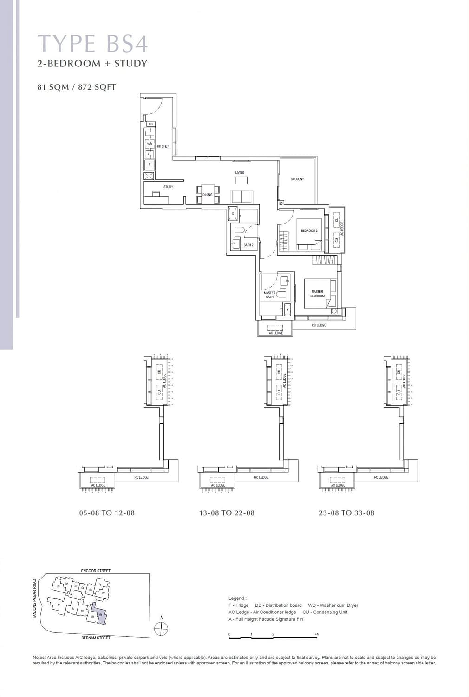 One Bernam One Bernam floorplan BS4 scaled