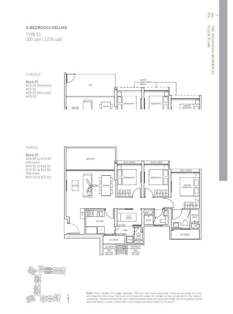 Woodleigh Residences Woodleigh Residences floorplan type E1 P