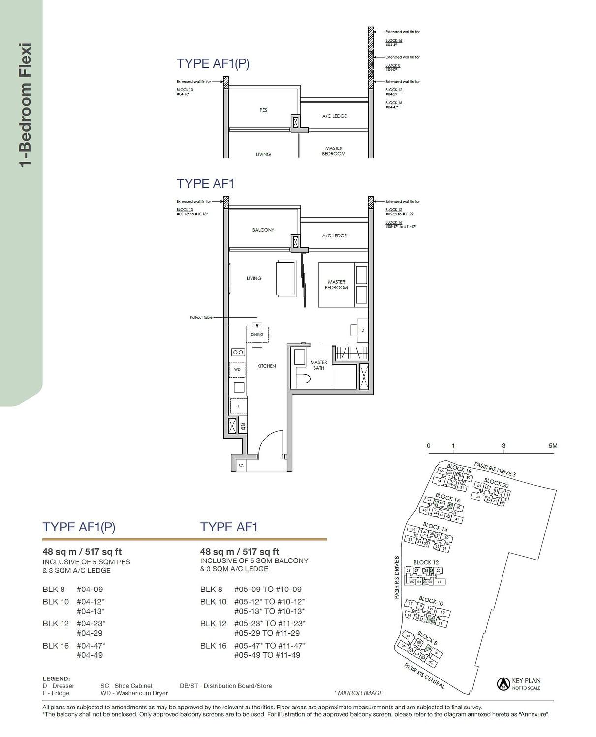 Pasir Ris 8 Pasir Ris 8 Floorplan AF1