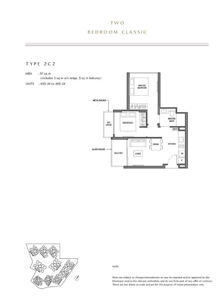 Parc Komo Parc Komo floorplan type 2C2