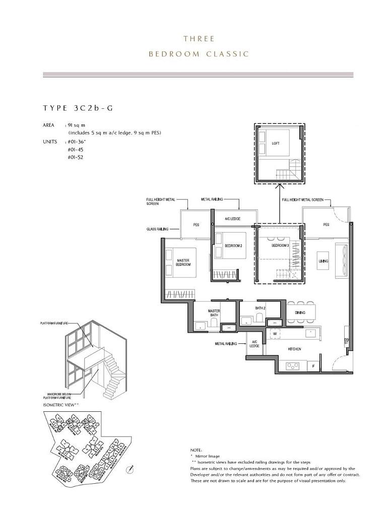 Parc Komo Parc Komo floorplan type 3C2b G
