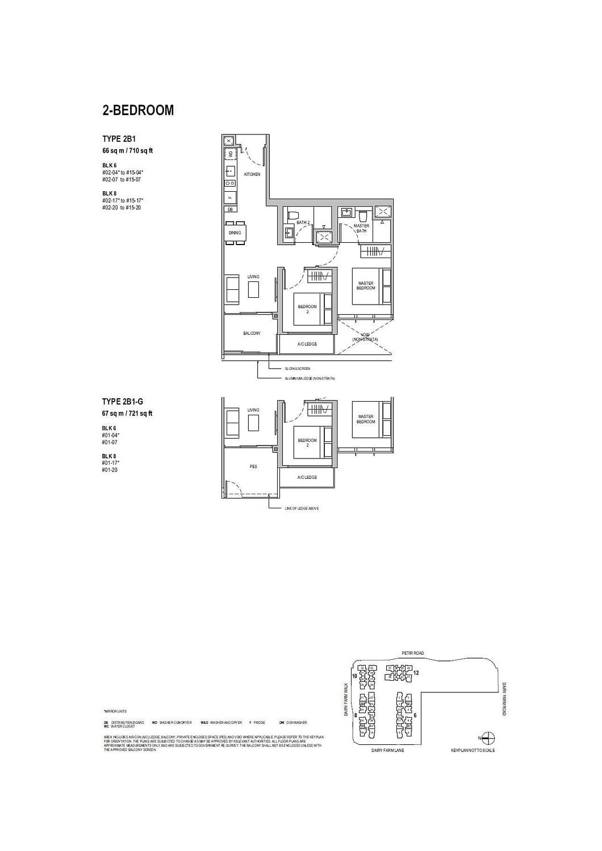 Dairy Farm Residences Dairy Farm Residences floorplan 2B1