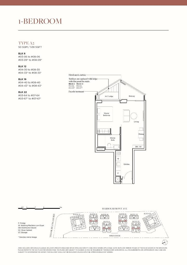 The Reef at King's Dock The Reef floorplan type A2