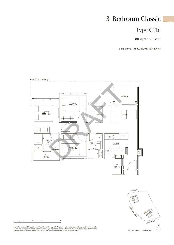 Irwell Hill Residences Irwell Hill Residences floorplan type C1b