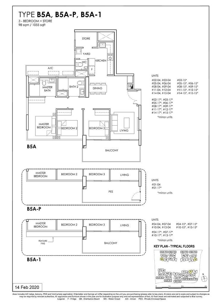 OLÁ OLA floorplan type B5A P