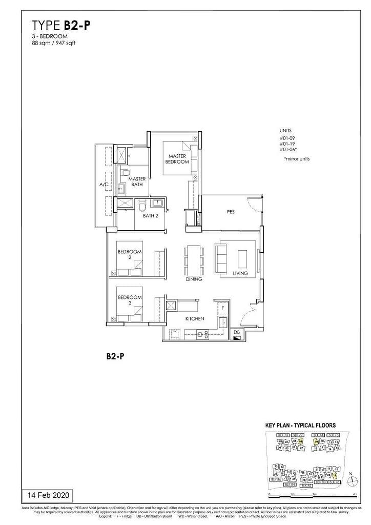 OLÁ OLA floorplan type B2 P