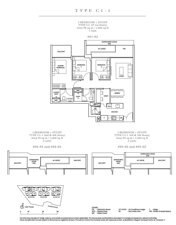 Peak Residence Peak Residence Floorplan C1 1P