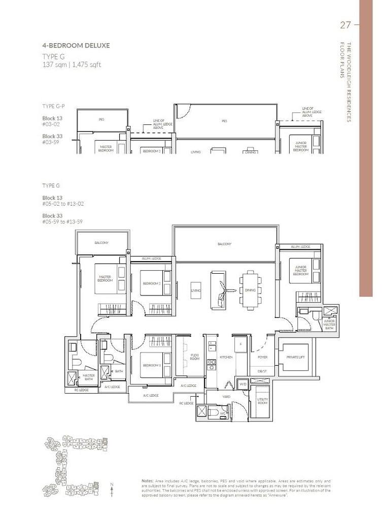 Woodleigh Residences Woodleigh Residences floorplan type G