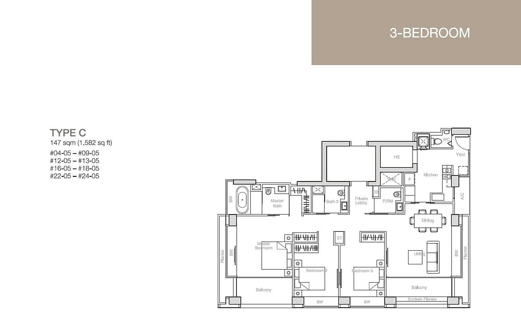 Nouvel 18 Nouvel 18 floorplan typeC
