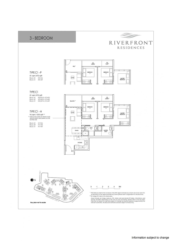 Riverfront Residences Riverfront Residences Floorplan C1 H scaled