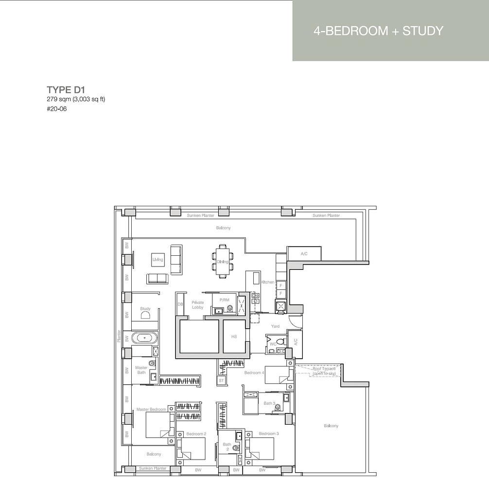 Nouvel 18 Nouvel 18 floorplan typeD1