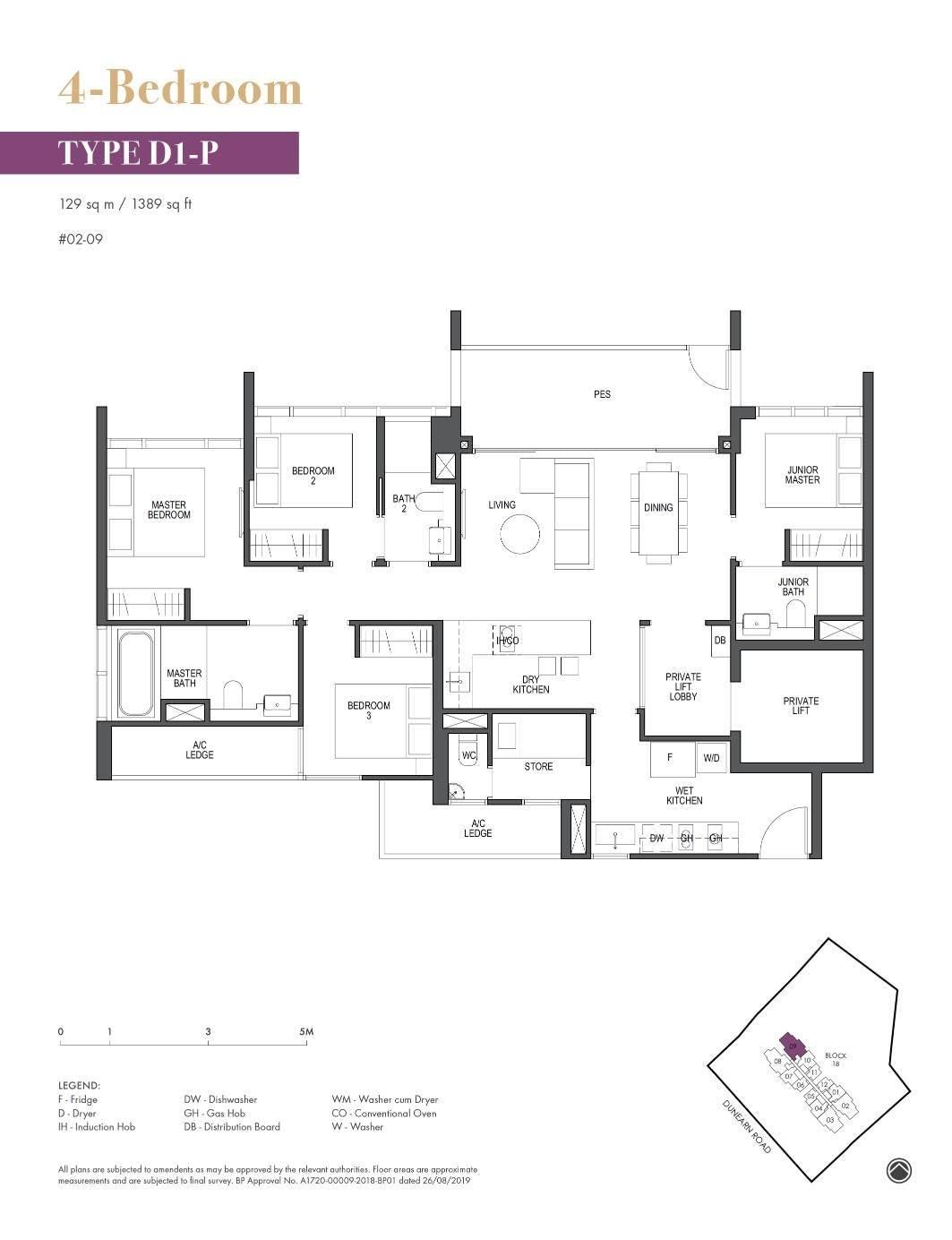 Pullman Residence Pullman Residence Floorplan D1 P