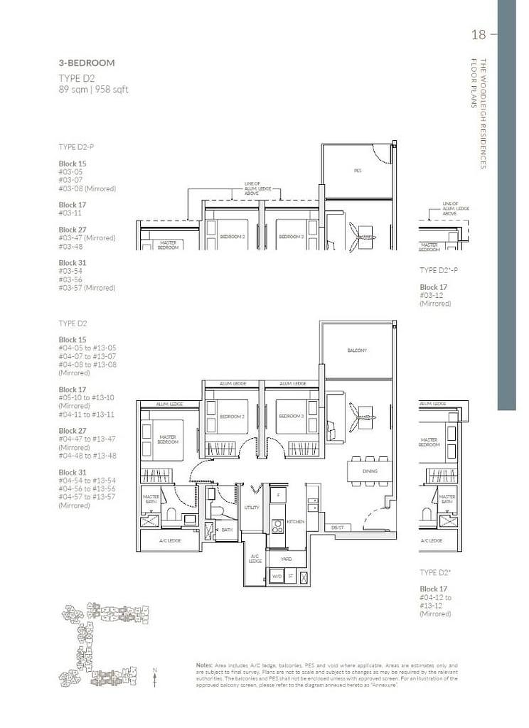 Woodleigh Residences Woodleigh Residences floorplan type D2 P