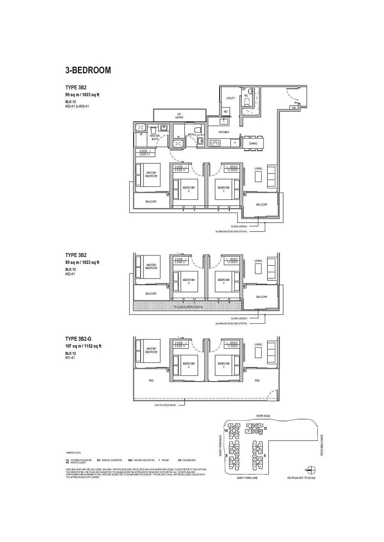 Dairy Farm Residences Dairy Farm Residences floorplan 3B2 G