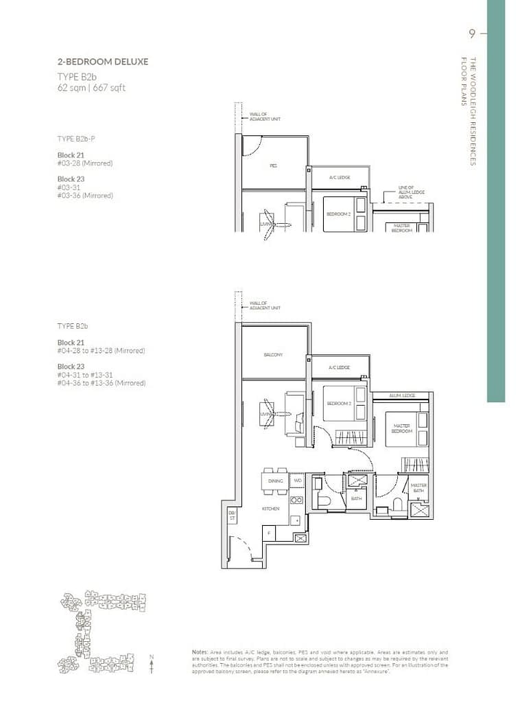 Woodleigh Residences Woodleigh Residences floorplan type B2b P