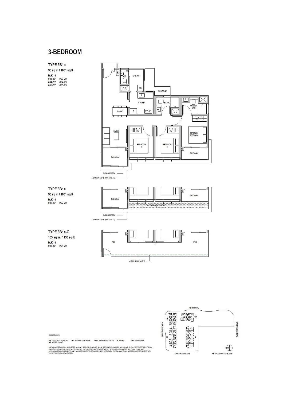 Dairy Farm Residences Dairy Farm Residences floorplan 3B1a G