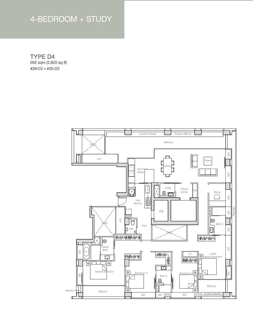 Nouvel 18 Nouvel 18 floorplan typeD4
