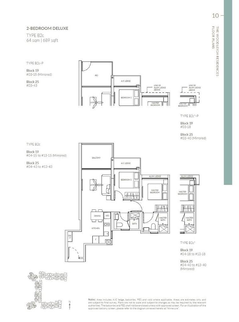 Woodleigh Residences Woodleigh Residences floorplan type B2c P1