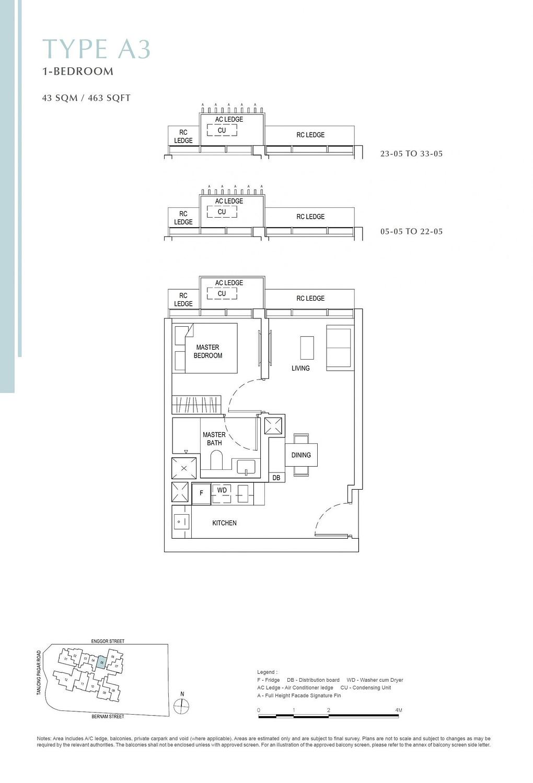 One Bernam One Bernam floorplan A3 scaled