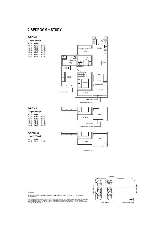 Dairy Farm Residences Dairy Farm Residences floorplan 2C1