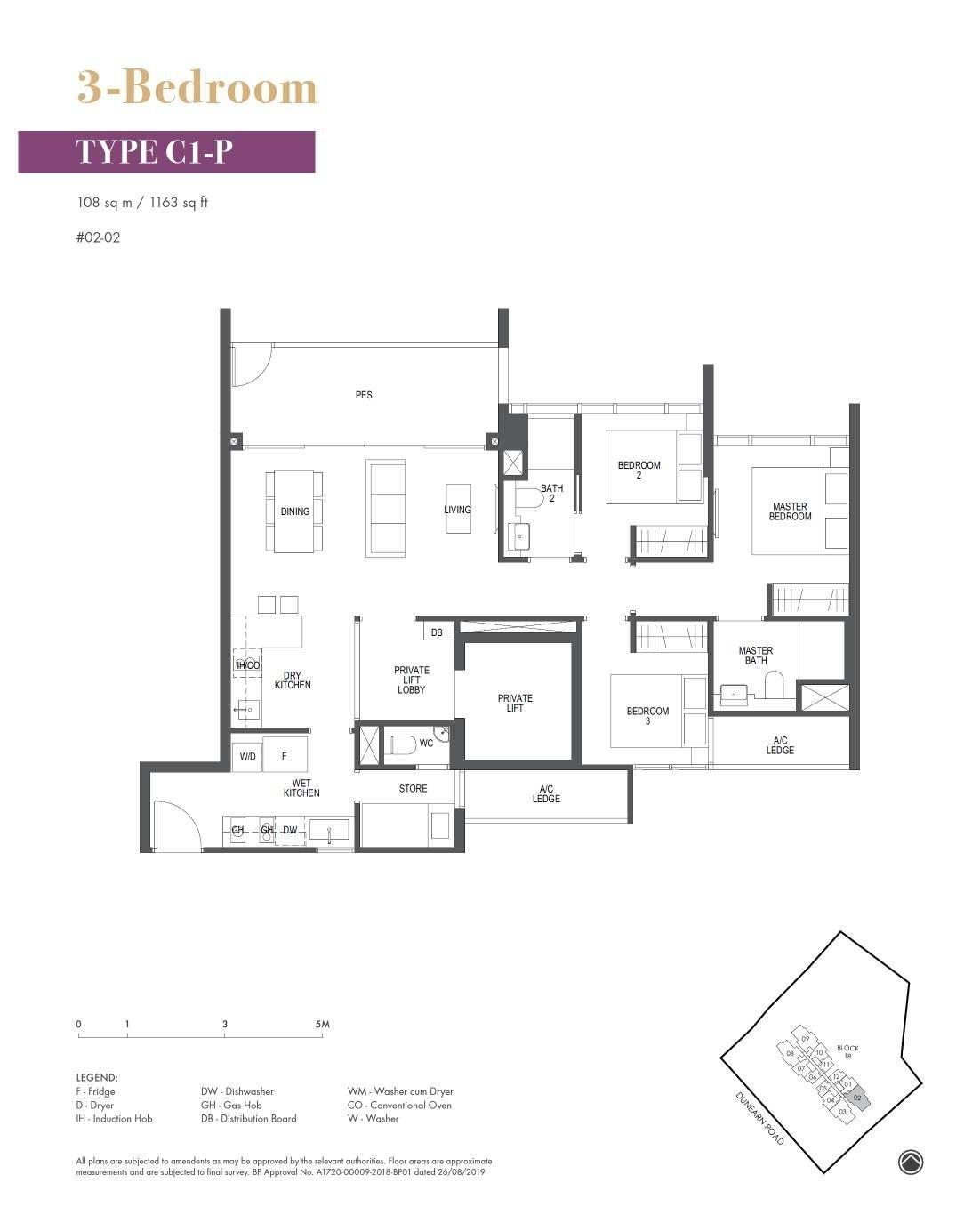Pullman Residence Pullman Residence Floorplan C1 P