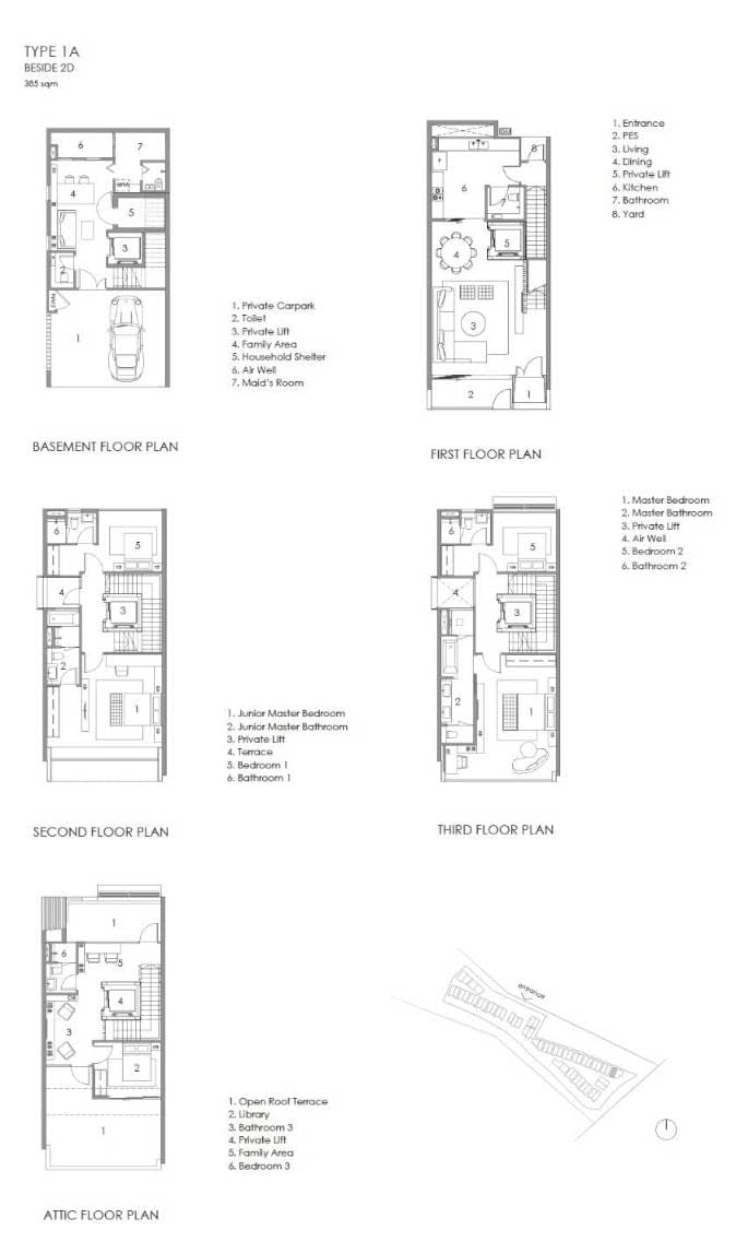 Parkwood Collection Parkwood Collection Floorplan 1A Beside 2D