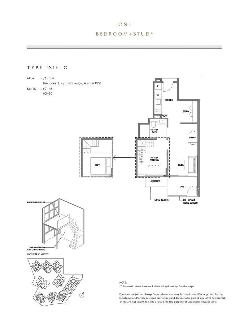 Parc Komo Parc Komo floorplan type 1S1b G
