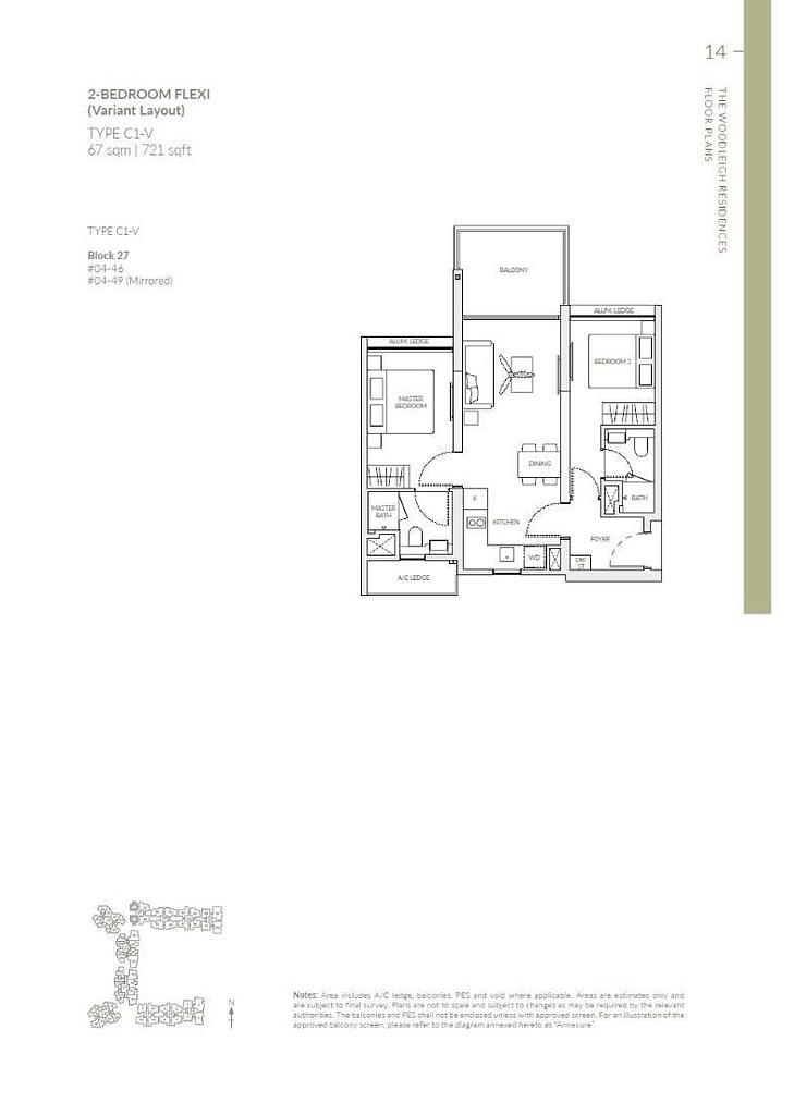 Woodleigh Residences Woodleigh Residences floorplan type C1 V