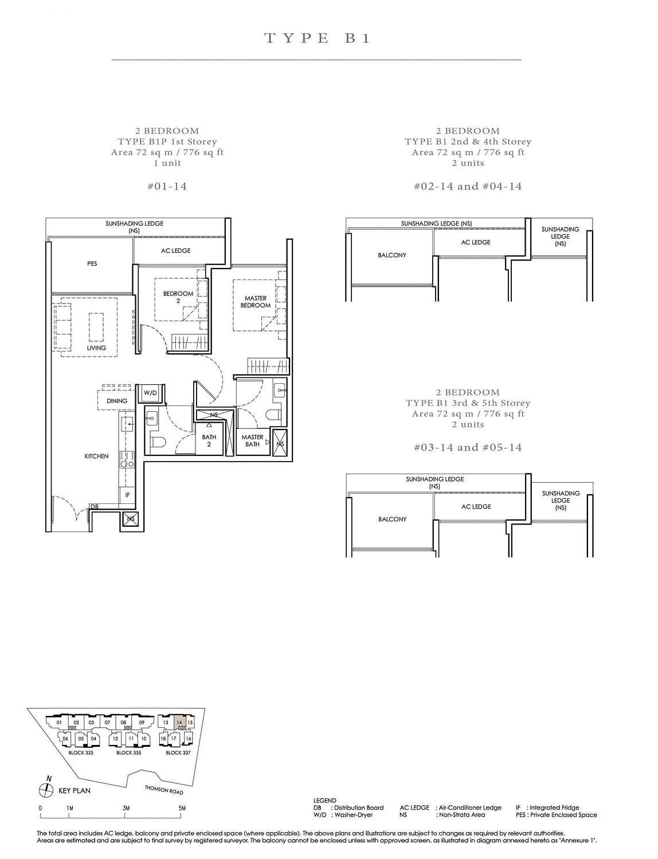 Peak Residence Peak Residence Floorplan B1 scaled