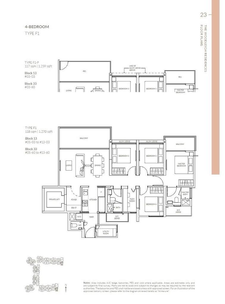 Woodleigh Residences Woodleigh Residences floorplan type F1 P