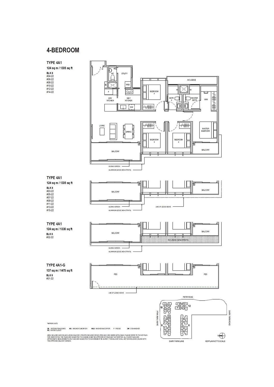 Dairy Farm Residences Dairy Farm Residences floorplan 4A1 G