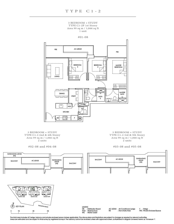 Peak Residence Peak Residence Floorplan C1 2P