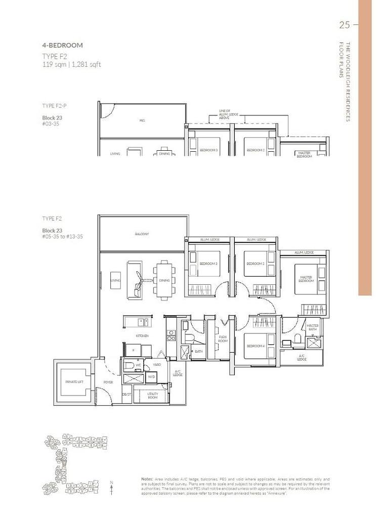 Woodleigh Residences Woodleigh Residences floorplan type F2 P