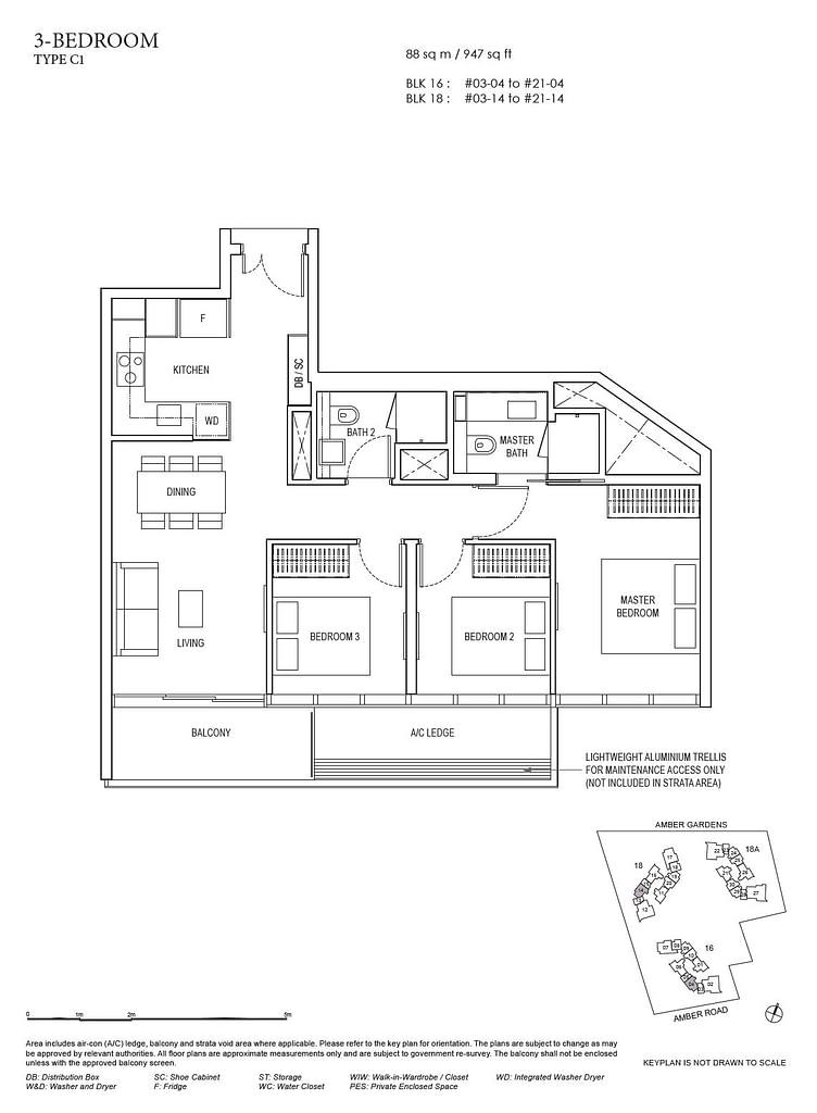 Amber Park Amber Park floorplan layout C1