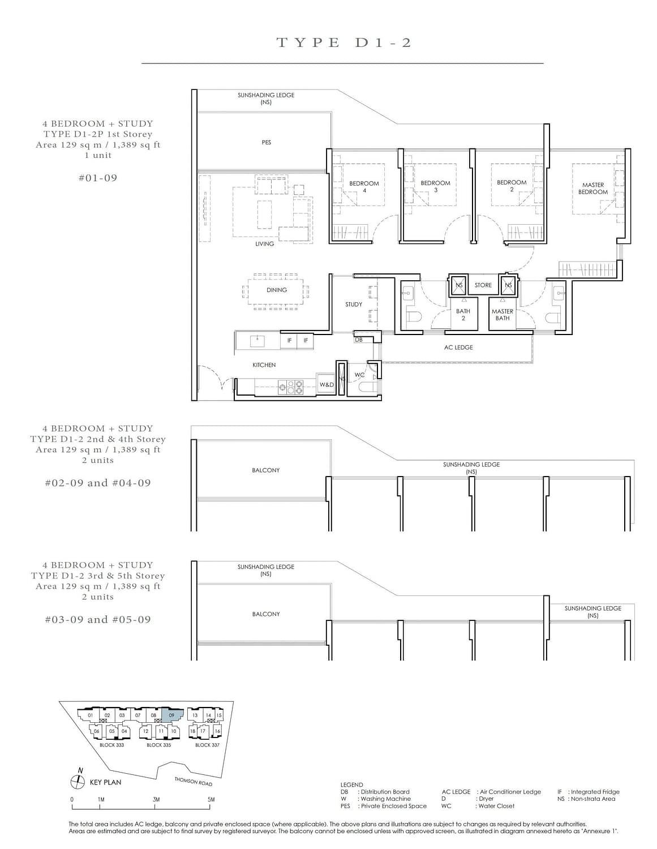 Peak Residence Peak Residence Floorplan D1 2P scaled