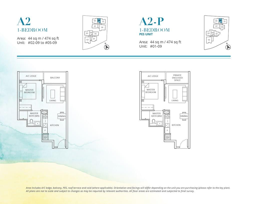 Casa Al Mare Casa Al Mare floorplan type A2 P