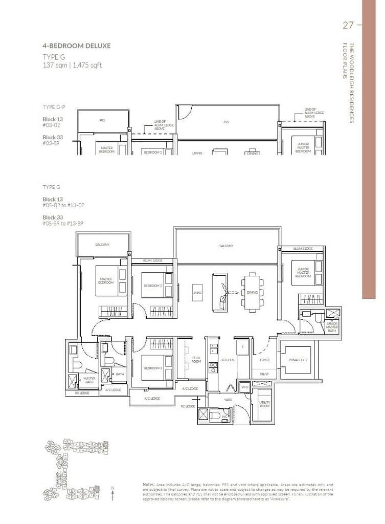 Woodleigh Residences Woodleigh Residences floorplan type G P